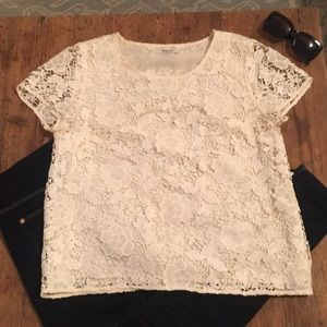 Madewell Cream Lace Top